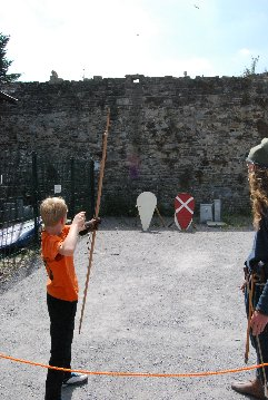Medieval bow and arrow shooting in Conwy