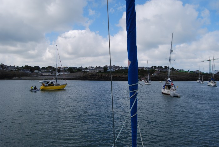 At anchor in Moelfre