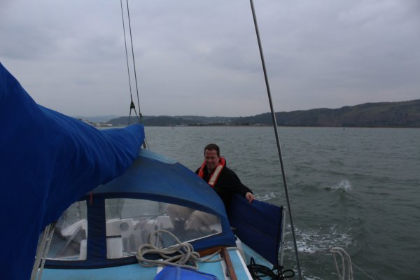 Sailing on Conwy bay