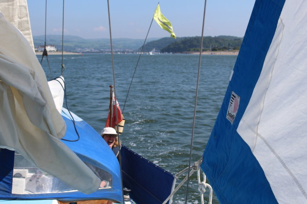 Heading out of Conwy channel