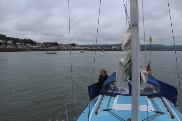 Heading out leaving Delganwy behind