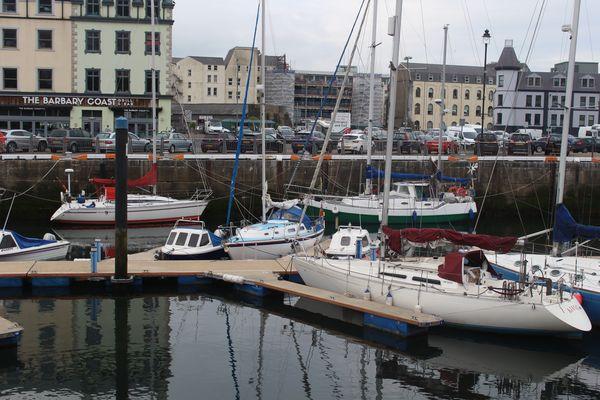Anyway moored up in Douglas inner harbour