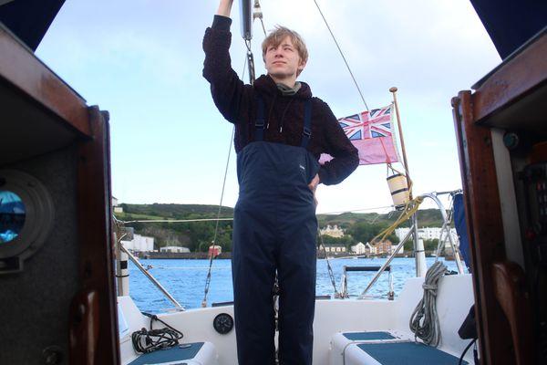 Leaving Douglas harbour