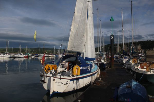 Drying sails in Conwy