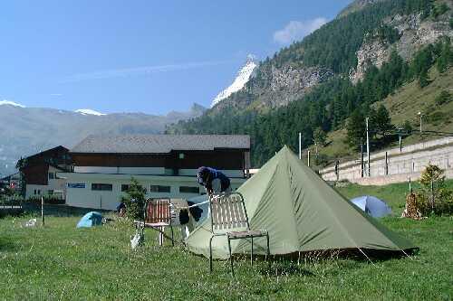 Campsite in Zermatt