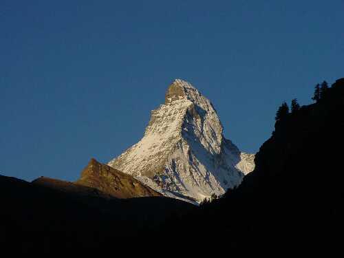 The Matterhorn early morning (foto Tomoki Takahashi)