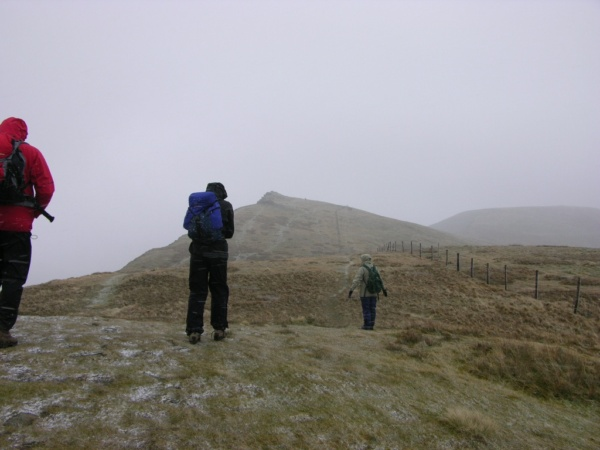 Walking from Cadair Berwyn to Moel Sych