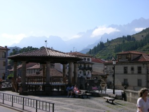 Potes with eastern Picos